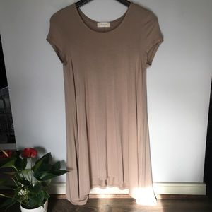 Altar'd State Nude T-Shirt Dress